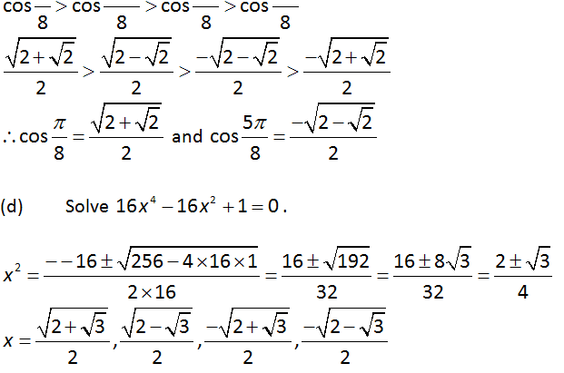 Equations using Complex Number