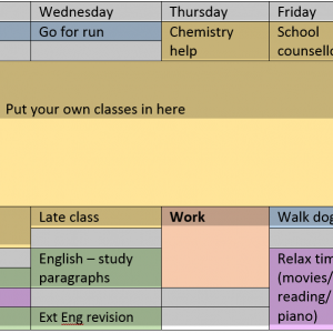 The Best Study Timetable