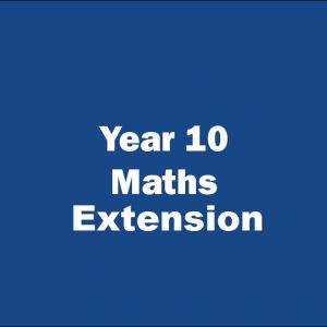 Prime Year 10 Maths extension tutoring course